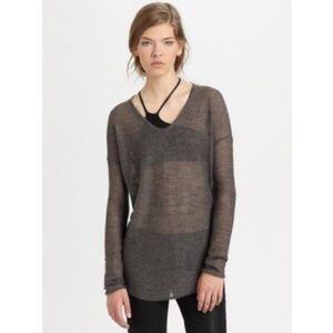 Helmut Lang Eco Fine Gauze Sweater Brown Small